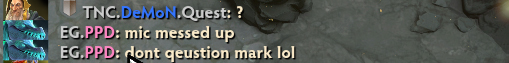Dota Question Mark Chat