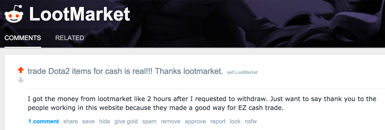 how to sell on loot market